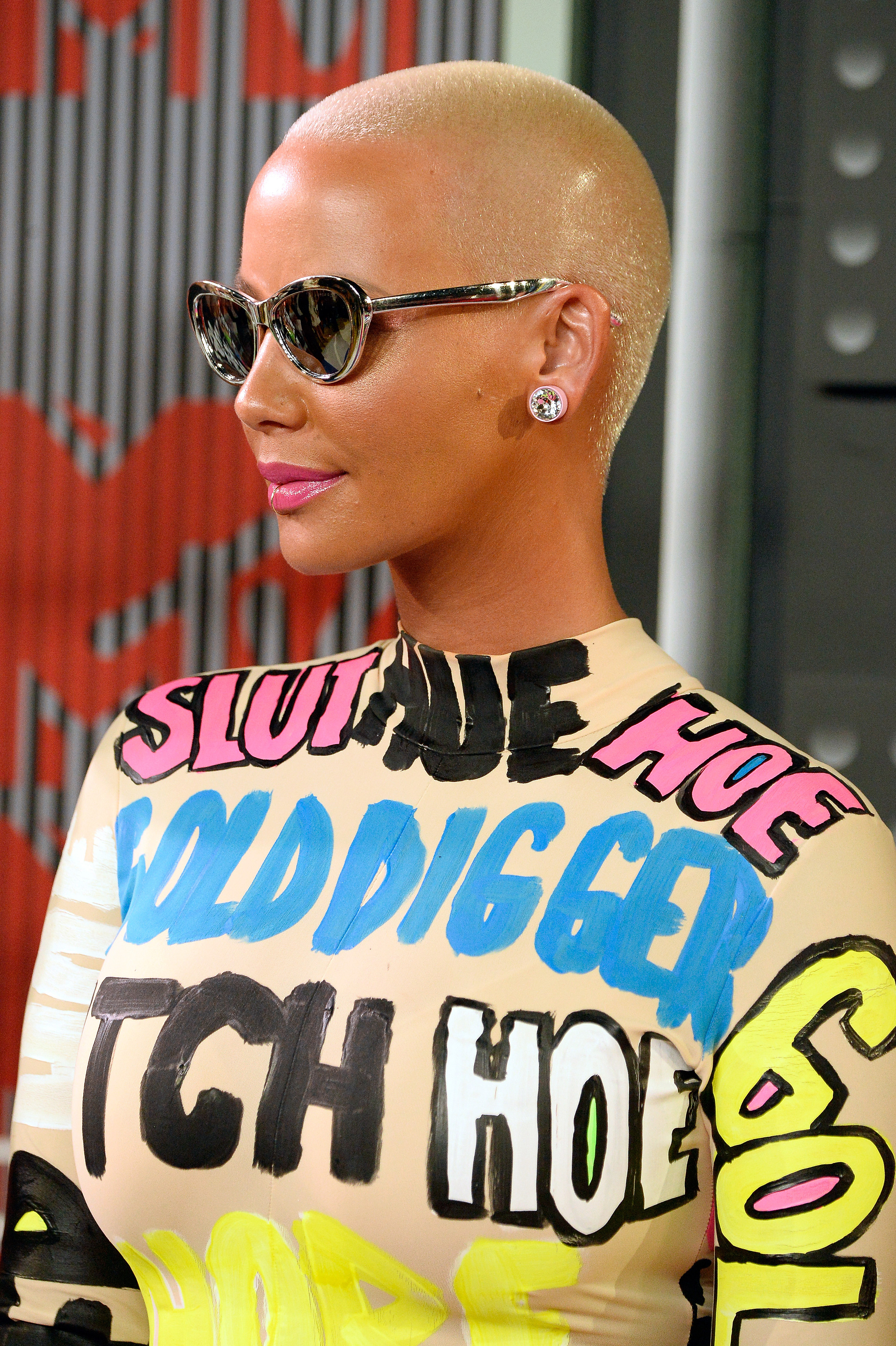 Amber Rose attends the 2015 MTV Video Music Awards/ Getty Images