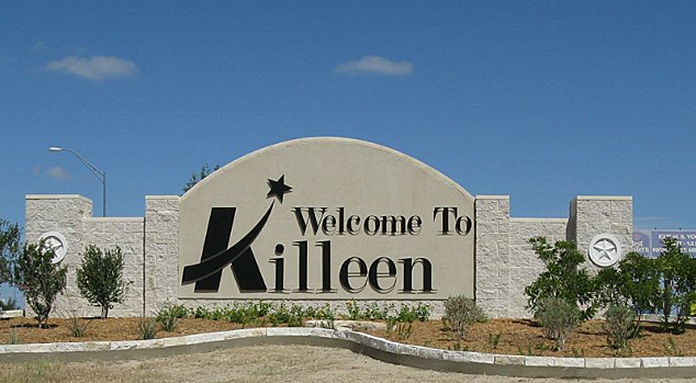 Welcome to Killeen sign